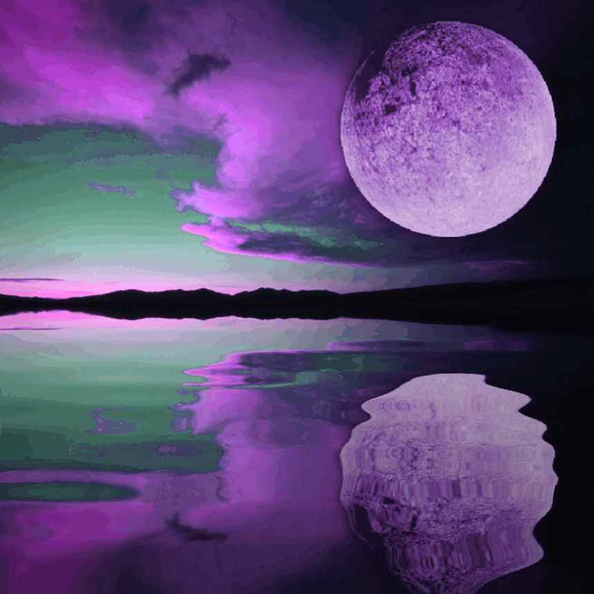 Click to get the codes for this image. Purple Moon Sunset, Sunsets and Sunrises, Fantasy Background, wallpaper or texture for, Blogger, Wordpress, or any web page, blog, desktop or phone.