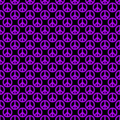 Click to get the codes for this image. Purple Peace Signs On Black Background Seamless, Peace Signs, Colors  Purple Background, wallpaper or texture for Blogger, Wordpress, or any phone, desktop or blog.