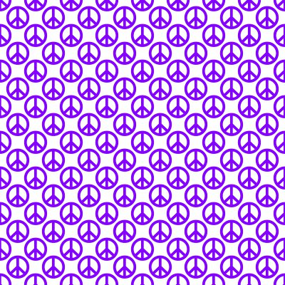 Click to get the codes for this image. Purple Peace Signs On White Background Seamless, Peace Signs, Colors  Purple Background, wallpaper or texture for Blogger, Wordpress, or any phone, desktop or blog.