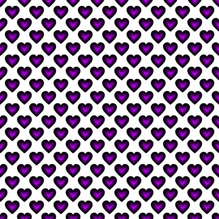 Click to get the codes for this image. Purple Satin Hearts On White Background Seamless, Hearts, Colors  Purple Background, wallpaper or texture for, Blogger, Wordpress, or any web page, blog, desktop or phone.