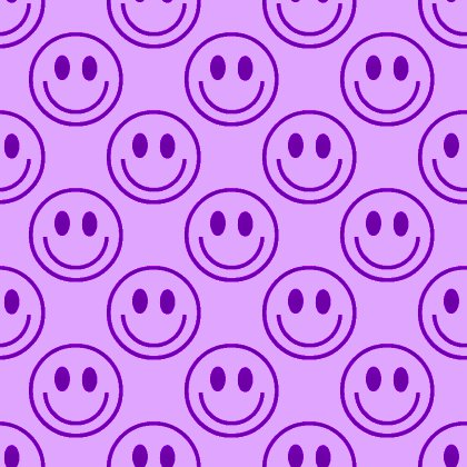 Click to get the codes for this image. Purple Smiley Faces Background Seamless, Smiley Faces, Colors  Purple Background, wallpaper or texture for Blogger, Wordpress, or any phone, desktop or blog.