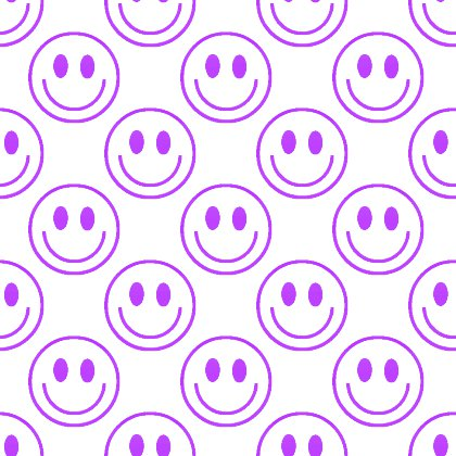 Click to get the codes for this image. Purple Smiley Faces On White Background Seamless, Smiley Faces, Colors  Purple Background, wallpaper or texture for Blogger, Wordpress, or any phone, desktop or blog.