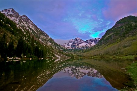 Click to get the codes for this image. Purple Sunrise Over Maroon Bells Background 1800x1200, Sunsets and Sunrises, Nature Landscapes  Scenery Background, wallpaper or texture for any blog, web page, phone or desktop