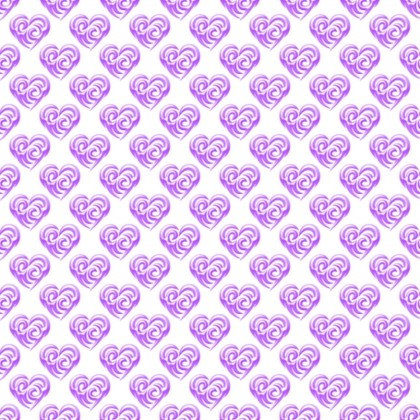 Click to get the codes for this image. Purple Swirley Hearts On White, Hearts, Colors  Purple Background, wallpaper or texture for, Blogger, Wordpress, or any web page, blog, desktop or phone.
