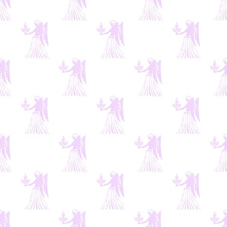 Click to get the codes for this image. Purple Virgo Astrology Watermark On White, Astrology  Zodiac Symbols Background, wallpaper or texture for, Blogger, Wordpress, or any web page, blog, desktop or phone.