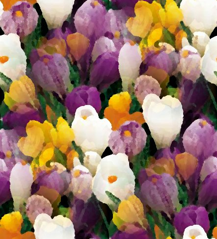 Click to get the codes for this image. Purple Yellow And White Crocus Seamless Painting, Flowers  Floral Designs, Seasons  Spring Background, wallpaper or texture for Blogger, Wordpress, or any phone, desktop or blog.
