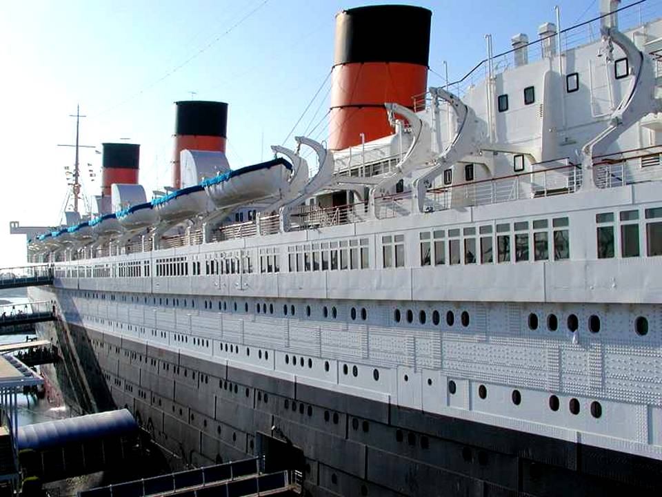 Click to get the codes for this image. Queen Mary Ocean Liner, Cars Boats Trains etc Background, wallpaper or texture for any blog, web page, phone or desktop