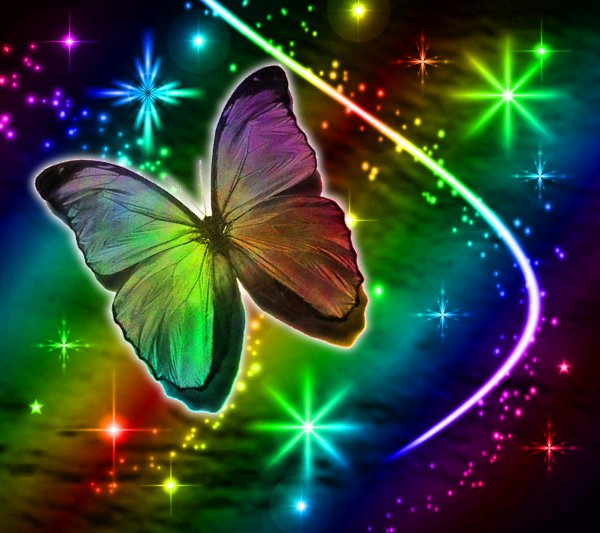 Click to get the codes for this image. Rainbow Butterfly With Stars Background 1800x1600, Butterflies, Colors  Rainbow Background, wallpaper or texture for Blogger, Wordpress, or any phone, desktop or blog.