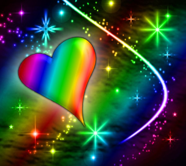 Click to get the codes for this image. Rainbow Heart With Plasma Stars Background 1800x1600, Hearts, Colors  Rainbow Background, wallpaper or texture for, Blogger, Wordpress, or any web page, blog, desktop or phone.