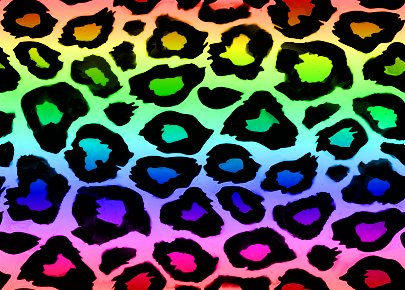 Click to get the codes for this image. Rainbow Leopard Print, Animal Print, Colors  Rainbow Background, wallpaper or texture for, Blogger, Wordpress, or any web page, blog, desktop or phone.