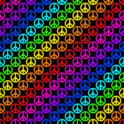Click to get the codes for this image. Rainbow Peace Signs On Black Background Seamless, Peace Signs, Colors  Rainbow Background, wallpaper or texture for Blogger, Wordpress, or any phone, desktop or blog.