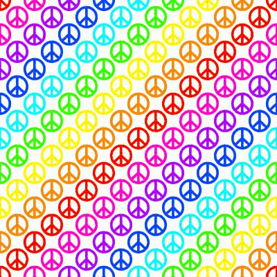 Click to get the codes for this image. Rainbow Peace Signs On White Background Seamless, Peace Signs, Colors  Rainbow Background, wallpaper or texture for Blogger, Wordpress, or any phone, desktop or blog.