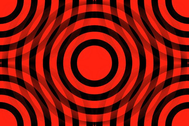 Click to get the codes for this image. Red And Black Interlocking Concentric Circles, Patterns  Circles and Polkadots, Colors  Red Background, wallpaper or texture for Blogger, Wordpress, or any phone, desktop or blog.