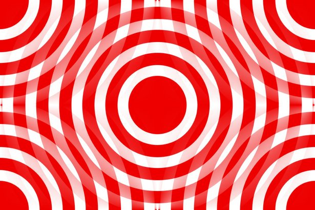 Click to get the codes for this image. Red And White Interlocking Concentric Circles, Patterns  Circles and Polkadots, Colors  Red Background, wallpaper or texture for Blogger, Wordpress, or any phone, desktop or blog.