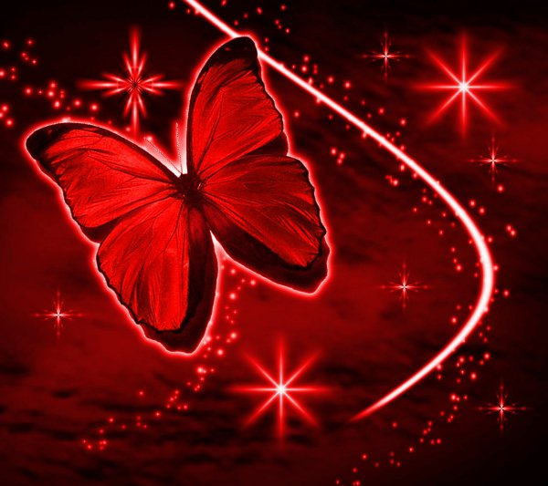 Click to get the codes for this image. Red Butterfly With Stars Background 1800x1600, Butterflies, Colors  Red Background, wallpaper or texture for Blogger, Wordpress, or any phone, desktop or blog.