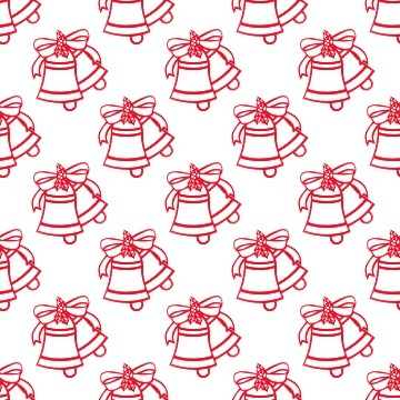 Click to get the codes for this image. Red Christmas Bells On White, Holidays  Christmas Background, wallpaper or texture for Blogger, Wordpress, or any phone, desktop or blog.