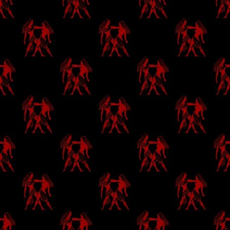Click to get the codes for this image. Red Gemini Astrology On Black, Astrology  Zodiac Symbols Background, wallpaper or texture for, Blogger, Wordpress, or any web page, blog, desktop or phone.