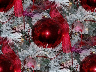 Click to get the codes for this image. Red Ornaments On White Tree, Holidays  Christmas Background, wallpaper or texture for Blogger, Wordpress, or any phone, desktop or blog.