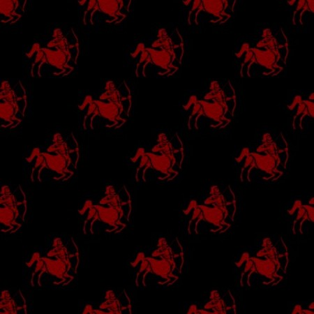 Click to get the codes for this image. Red Sagittarius Astrology On Black, Astrology  Zodiac Symbols Background, wallpaper or texture for, Blogger, Wordpress, or any web page, blog, desktop or phone.
