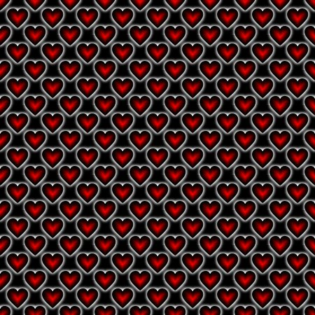 Click to get the codes for this image. Red Satin Hearts On Black Background Seamless, Colors  Red, Hearts, Holidays  Valentines Day Background, wallpaper or texture for, Blogger, Wordpress, or any web page, blog, desktop or phone.