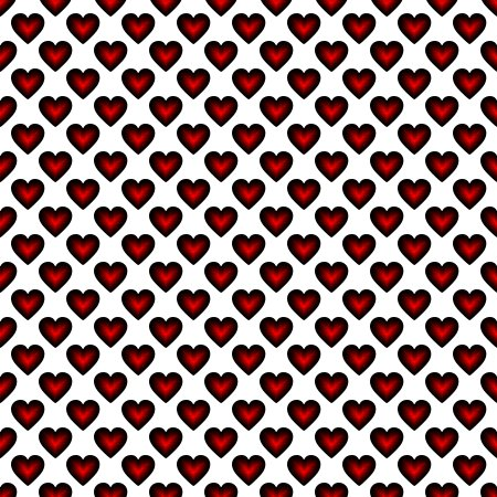 Click to get the codes for this image. Red Satin Hearts On White Background Seamless, Hearts, Holidays  Valentines Day, Colors  Red Background, wallpaper or texture for, Blogger, Wordpress, or any web page, blog, desktop or phone.