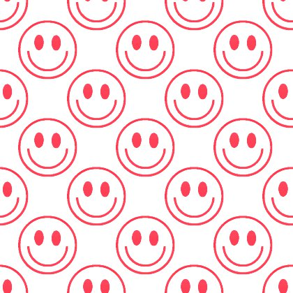 Click to get the codes for this image. Red Smiley Faces On White Background Seamless, Smiley Faces, Colors  Red Background, wallpaper or texture for Blogger, Wordpress, or any phone, desktop or blog.
