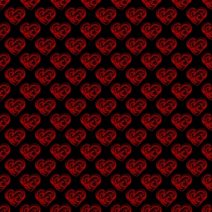 Click to get the codes for this image. Red Swirley Hearts On Black, Holidays  Valentines Day, Hearts, Colors  Red Background, wallpaper or texture for, Blogger, Wordpress, or any web page, blog, desktop or phone.