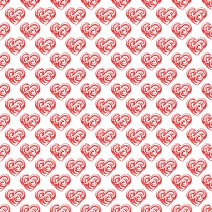 Click to get the codes for this image. Red Swirley Hearts On White, Holidays  Valentines Day, Hearts, Colors  Red Background, wallpaper or texture for, Blogger, Wordpress, or any web page, blog, desktop or phone.