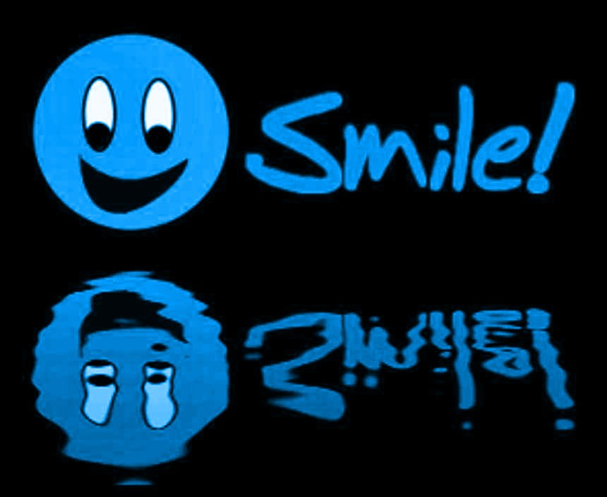 Click to get the codes for this image. Reflecting Blue Smile, Smiley Faces Background, wallpaper or texture for any blog, web page, phone or desktop