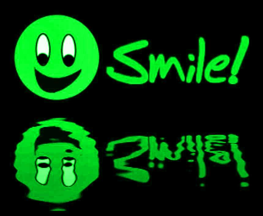Click to get the codes for this image. Reflecting Green Smile, Smiley Faces Background, wallpaper or texture for any blog, web page, phone or desktop