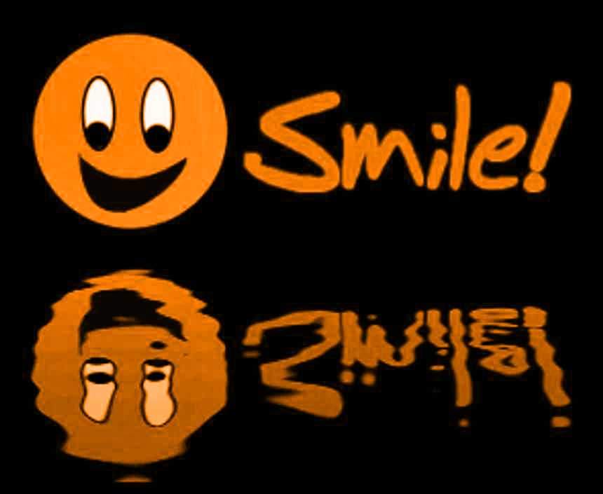 Click to get the codes for this image. Reflecting Orange Smile, Smiley Faces Background, wallpaper or texture for any blog, web page, phone or desktop