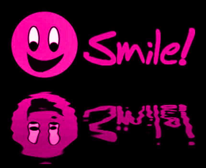 cool smiley face backgrounds. Reflecting Pink Smile