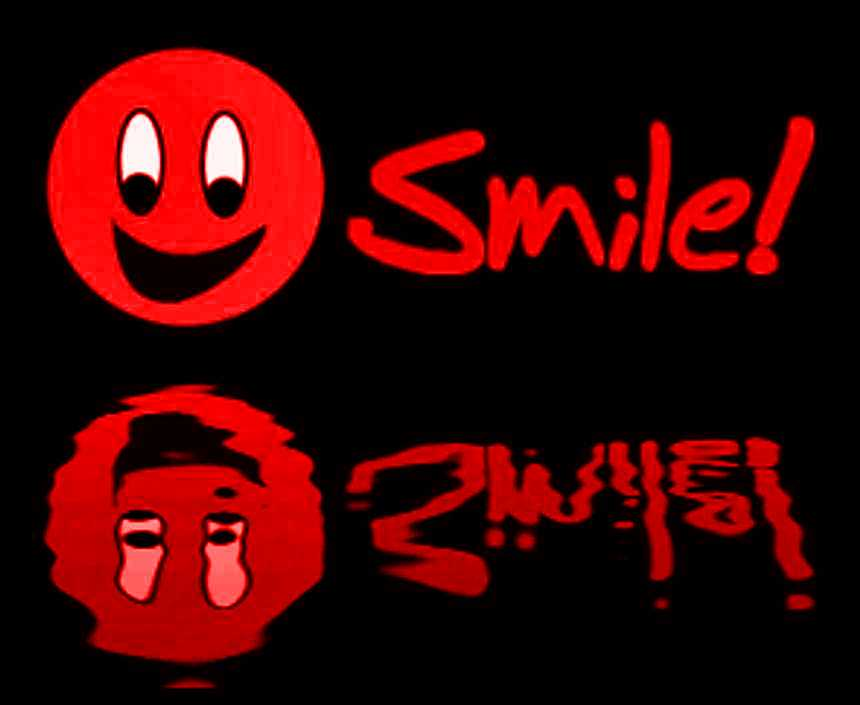 Click to get the codes for this image. Reflecting Red Smile, Smiley Faces Background, wallpaper or texture for any blog, web page, phone or desktop
