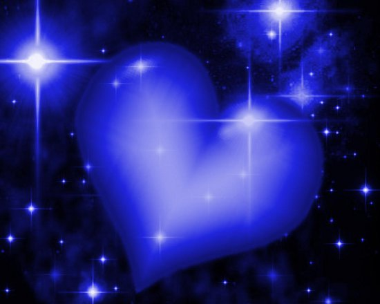 Click to get the codes for this image. Royal Blue Heart With Starry Background, Hearts, Colors  Blue Background, wallpaper or texture for, Blogger, Wordpress, or any web page, blog, desktop or phone.