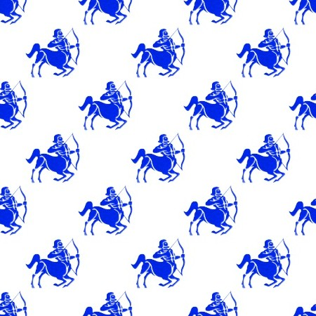 Click to get the codes for this image. Royal Blue Sagittarius Astrology On White, Astrology  Zodiac Symbols Background, wallpaper or texture for, Blogger, Wordpress, or any web page, blog, desktop or phone.