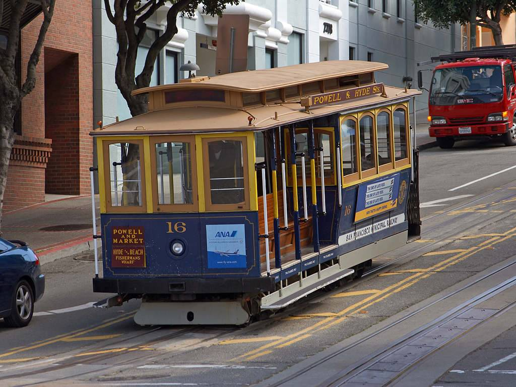 Click to get the codes for this image. San Francisco Cable Car, Cities  Buildings, Cars Boats Trains etc Background, wallpaper or texture for, Blogger, Wordpress, or any web page, blog, desktop or phone.