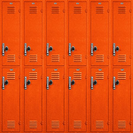 Click to get the codes for this image. School Lockers Background Orange Tiled, School, Colors  Orange,  New Backgrounds Background, wallpaper or texture for, Blogger, Wordpress, or any web page, blog, desktop or phone.