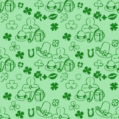 Click to get the codes for this image. Shamrock Dingbats On Green, Saint Patrick's Day, Colors  Green Background, wallpaper or texture for Blogger, Wordpress, or any phone, desktop or blog.