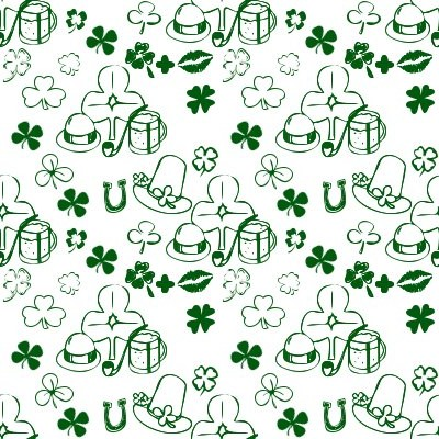 Click to get the codes for this image. Shamrock Dingbats On White, Saint Patrick's Day, Colors  Green Background, wallpaper or texture for Blogger, Wordpress, or any phone, desktop or blog.