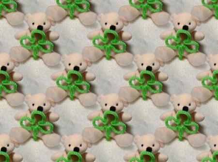 Click to get the codes for this image. Shamrock Teddy Bears, Saint Patrick's Day, Teddy Bears Background, wallpaper or texture for Blogger, Wordpress, or any phone, desktop or blog.