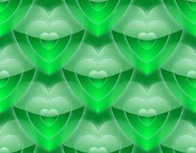 green hearts background - photo #21