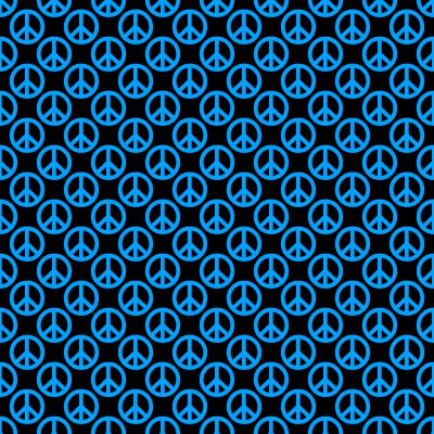 Click to get the codes for this image. Sky Blue Peace Signs On Black Background Seamless, Peace Signs, Colors  Blue Background, wallpaper or texture for Blogger, Wordpress, or any phone, desktop or blog.