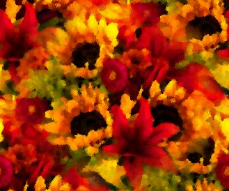Click to get the codes for this image. Sunflower Bouquet Seamless Painting, Colors  Orange, Flowers  Floral Designs, Seasons  Summer Background, wallpaper or texture for Blogger, Wordpress, or any phone, desktop or blog.