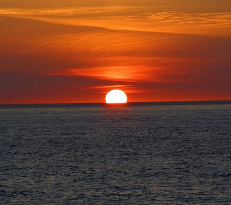 Click to get the codes for this image. Sunset On The Ocean Background 1800x1600, Ocean  Water, Sunsets and Sunrises Background, wallpaper or texture for any blog, web page, phone or desktop