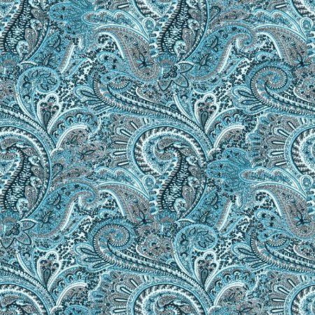 Click to get the codes for this image. Teal Paisley Pattern Background Seamless, Cloth Patterns, Paisleys, Colors  Aqua Background, wallpaper or texture for Blogger, Wordpress, or any phone, desktop or blog.
