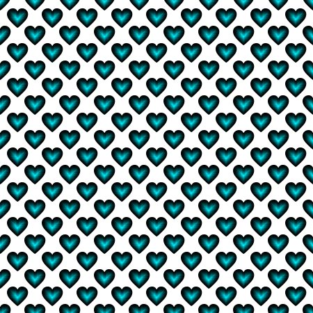 Click to get the codes for this image. Teal Satin Hearts On White Background Seamless, Hearts, Colors  Aqua Background, wallpaper or texture for, Blogger, Wordpress, or any web page, blog, desktop or phone.