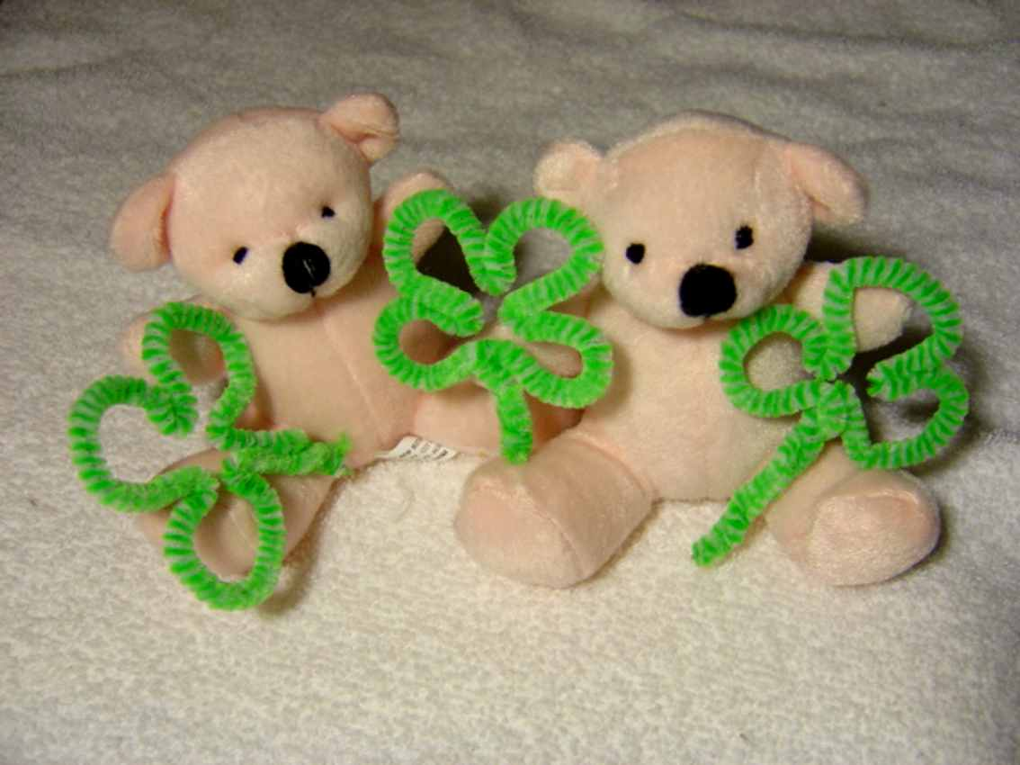 Click to get the codes for this image. Teddy Bears With Shamrocks, Saint Patrick's Day, Teddy Bears Background, wallpaper or texture for Blogger, Wordpress, or any phone, desktop or blog.