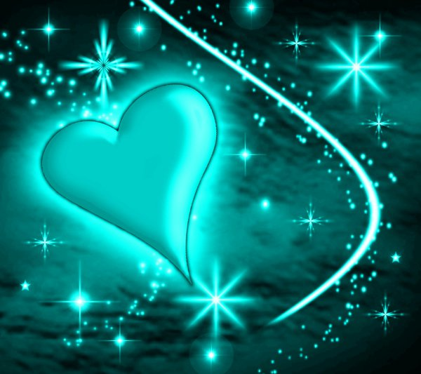 Click to get the codes for this image. Turquoise Heart With Plasma Stars Background 1800x1600, Hearts, Colors  Aqua Background, wallpaper or texture for, Blogger, Wordpress, or any web page, blog, desktop or phone.