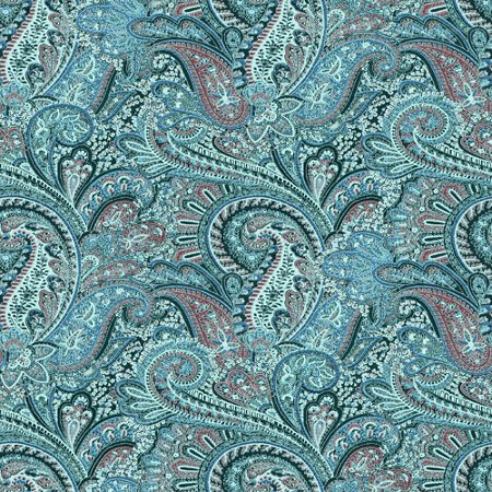 Click to get the codes for this image. Turquoise Paisley Pattern Background Seamless, Cloth Patterns, Paisleys, Colors  Aqua Background, wallpaper or texture for Blogger, Wordpress, or any phone, desktop or blog.