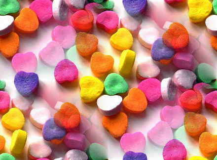 Click to get the codes for this image. Valentine Candy Hearts, Holidays  Valentines Day, Candy and Food Background, wallpaper or texture for, Blogger, Wordpress, or any web page, blog, desktop or phone.